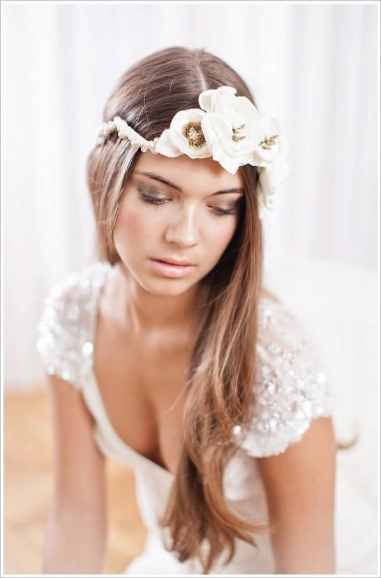 peinado novia pelo suelto