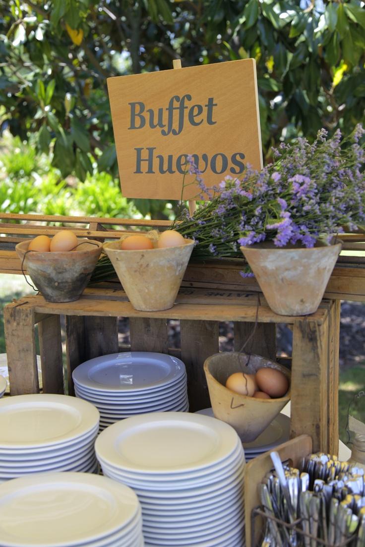 Buffet de Huevos en una bode