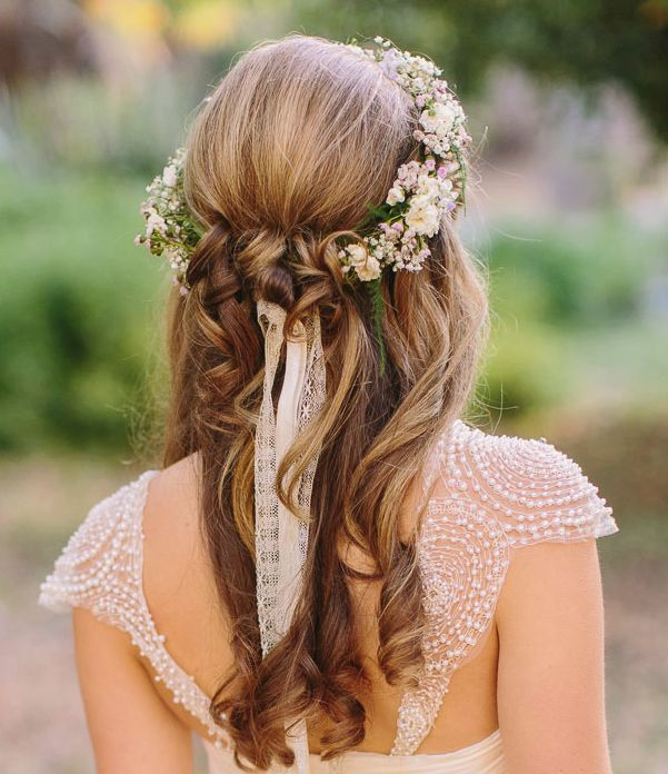 Romantic Wedding Hairstyles for Your Big Day. To see more- www.modwedding.co..