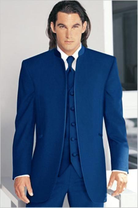 How to wear a mandarin collar suit