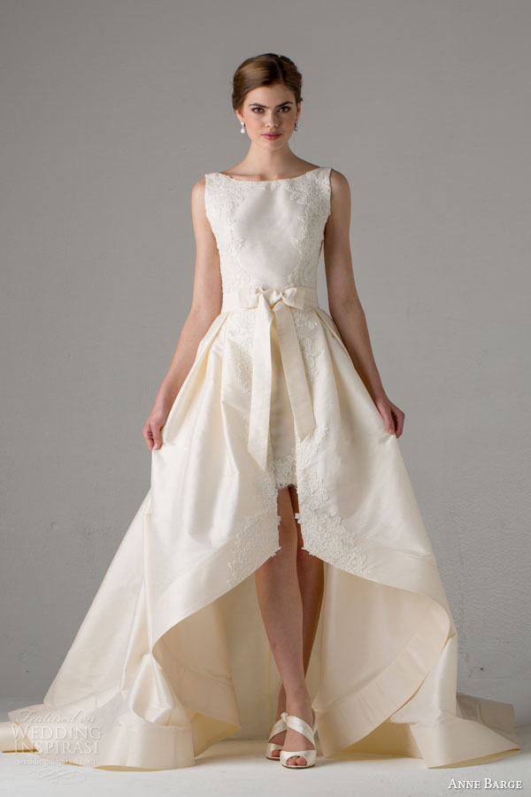 anne-barge-bridal-fall-2015-jenny-sleeveless-wedding-dress-high-low-skirt-bow-waist