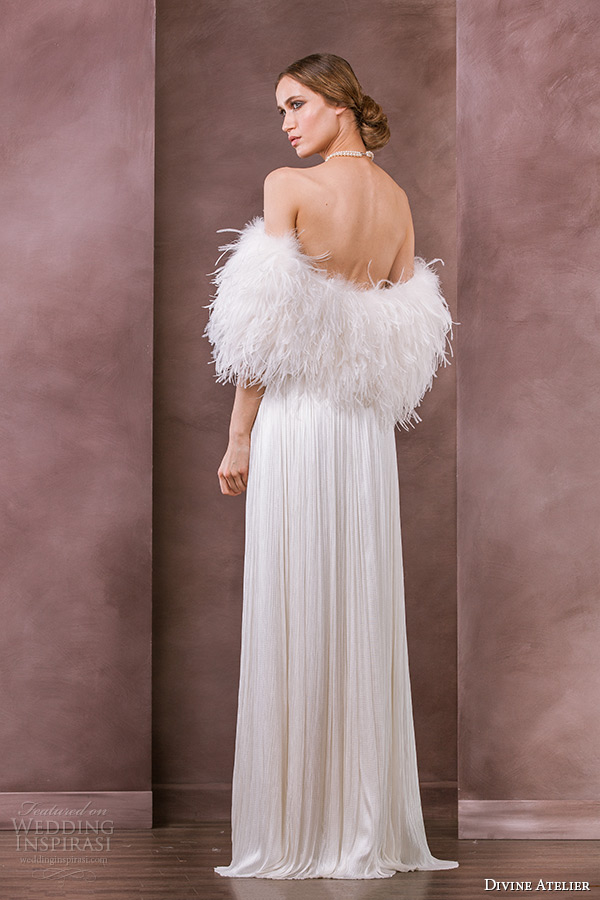 divine-atelier-wedding-dress-bridal-feather-bolero-adora-back