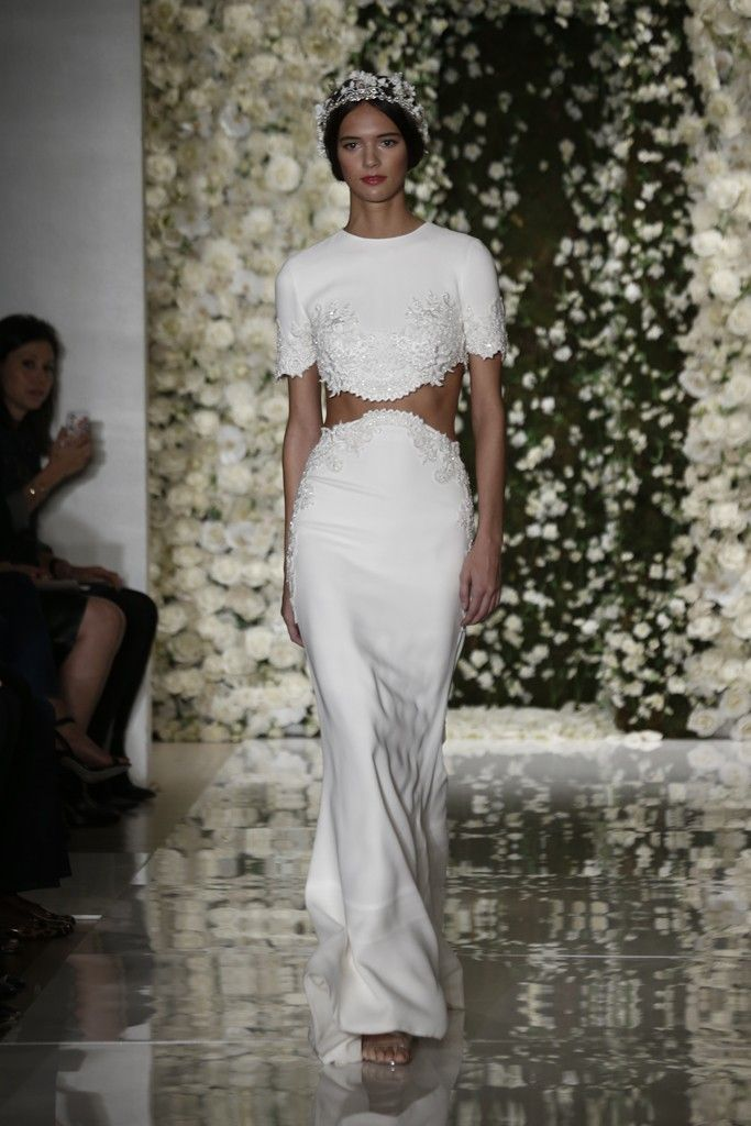"""I wanted to say that you can have fun at your wedding,"" said Reem Acra after her romantic fall show."