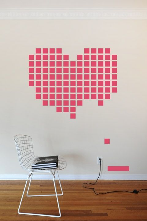 30 geniales ideas de pinterest para san valent n burgos for Cool things to put on your wall
