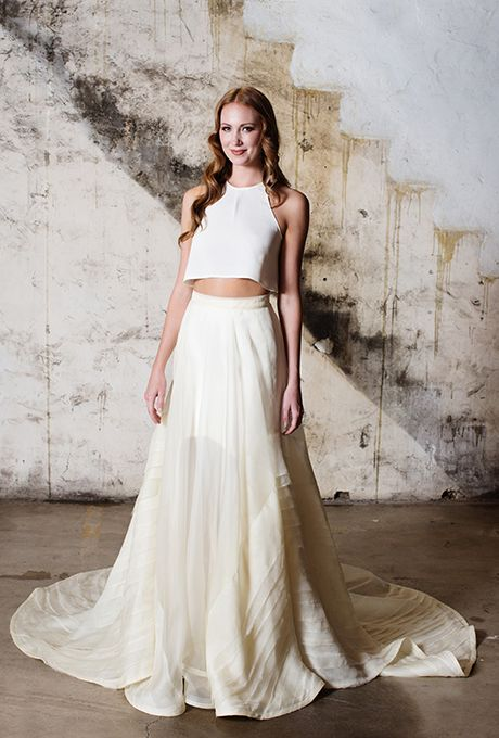 Tara LaTour Wedding Dresses Fall 2015 Bridal Runway Shows Brides.com