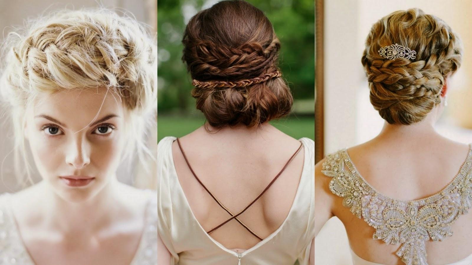 Peinados de novia cuello corto