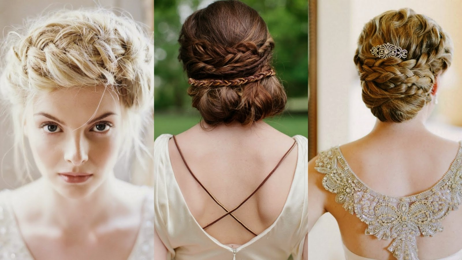 Peinados novia vestido manga larga