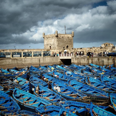 Fishing boats in the coastal town of Essaouira, Morocco (flickr- Carlo Tancredi)