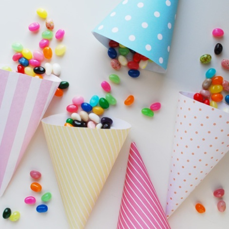 conos de papel imprimibles confetti bodas