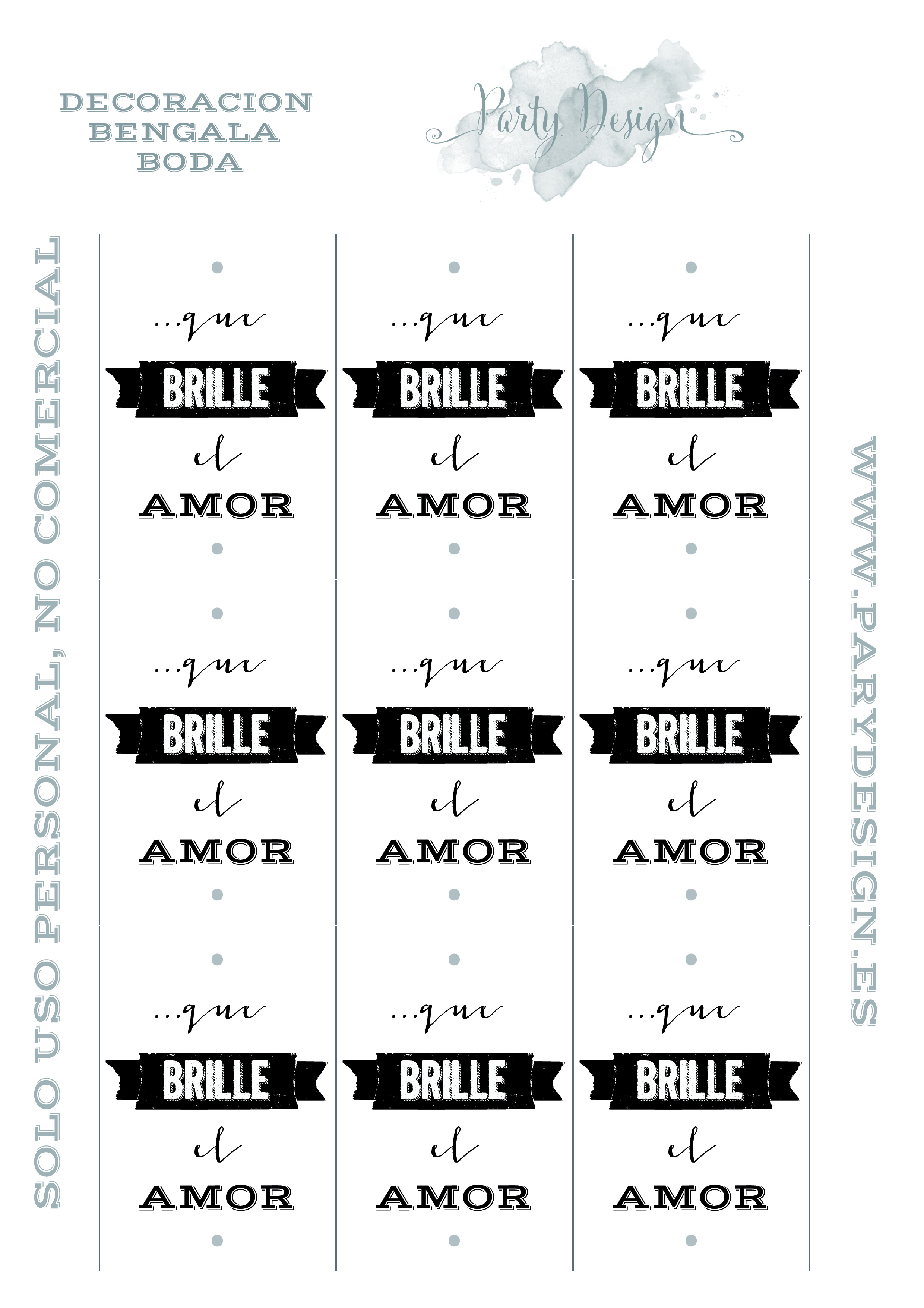 Plantillas descargables para tu boda | Burgos Nupcial