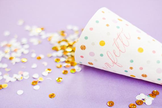 imprimible boda conos de confetti